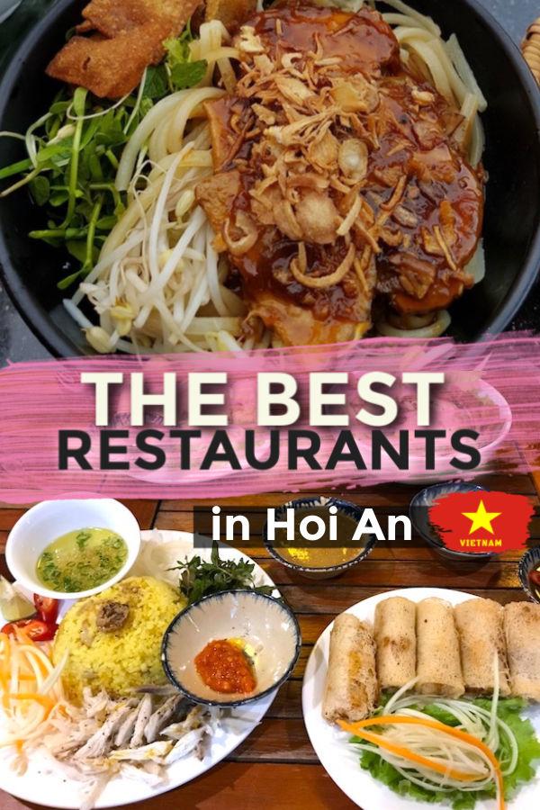 The best restaurants in Hoi An