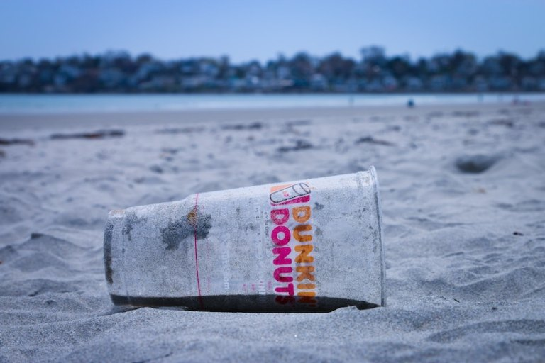 stop contributing to plastic on our beaches