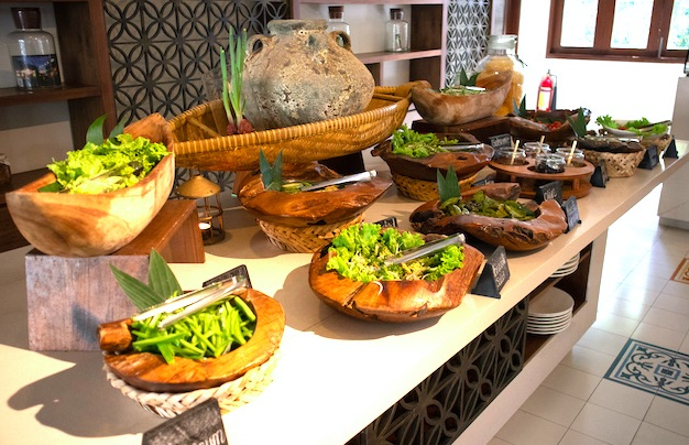 breakfast buffet at Almanity Resort Hoi an