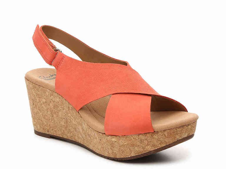 best wedges for travel - clarks eirwyn with arch support