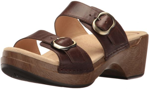 womens sandals with heel and arch support -dansko sohpie
