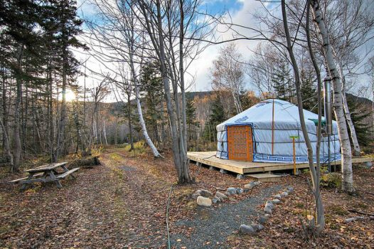 glamping in new brunswich - rent a yurt to stay in