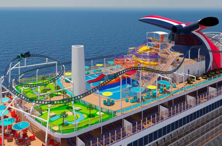 Carnival Cruises Will Feature Fisrt Roller Coaster