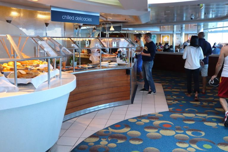 old buffet on millennium ship