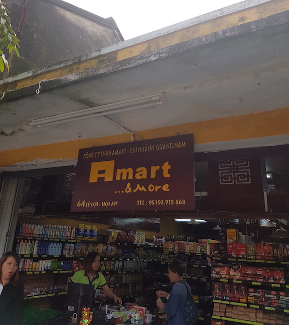 A Mart in Hoi An- Hoi An has no convenience stores