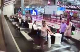 First time flyer thinks luggage ramp takes her to plane