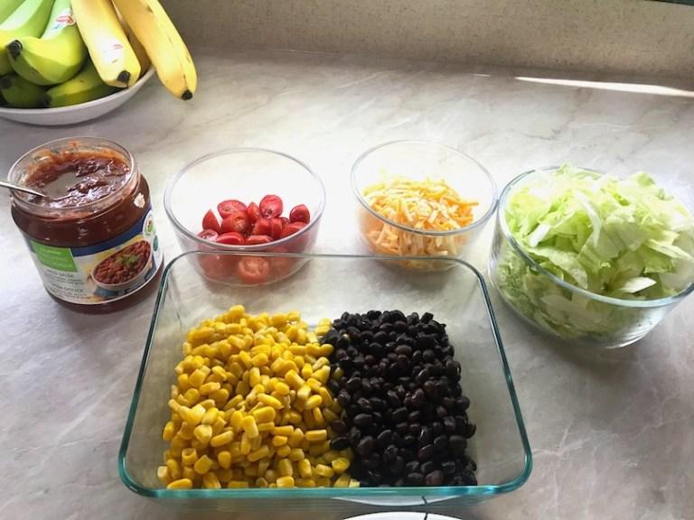 meal prep - burrito bowl - easy RV meal ideas