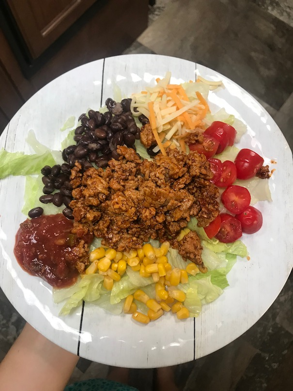 Healthy meal ideas to make in the RV or camper - burrito bowl