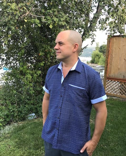 Trevor Kucheran in custom tailored shirt from Hu'o'ng Ly tailor in Hoi An
