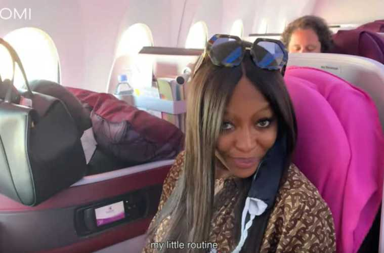 Naomi Campbell Flight Routine
