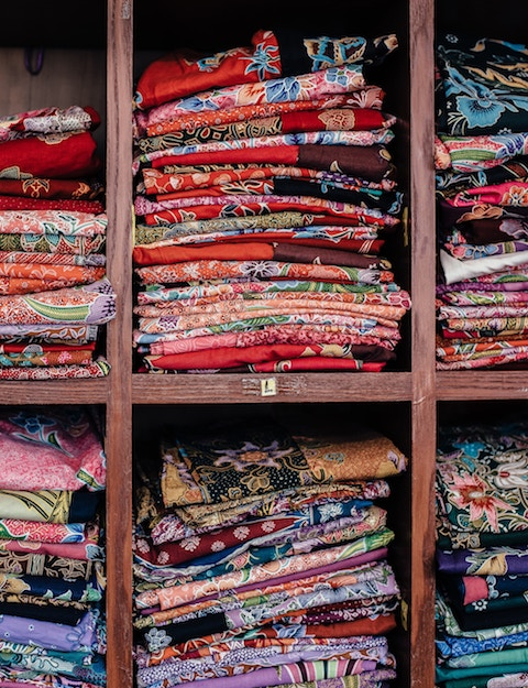 Fabric and material at the tailor shops in hoi an