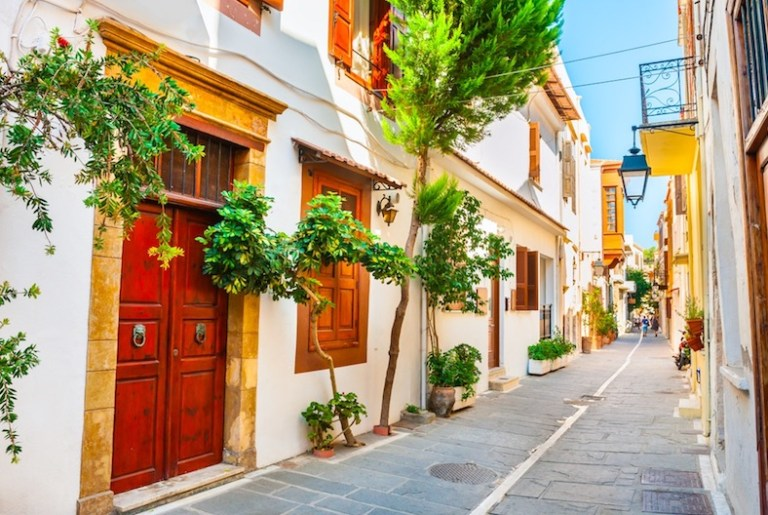Crete greece has mild and warm weather all year