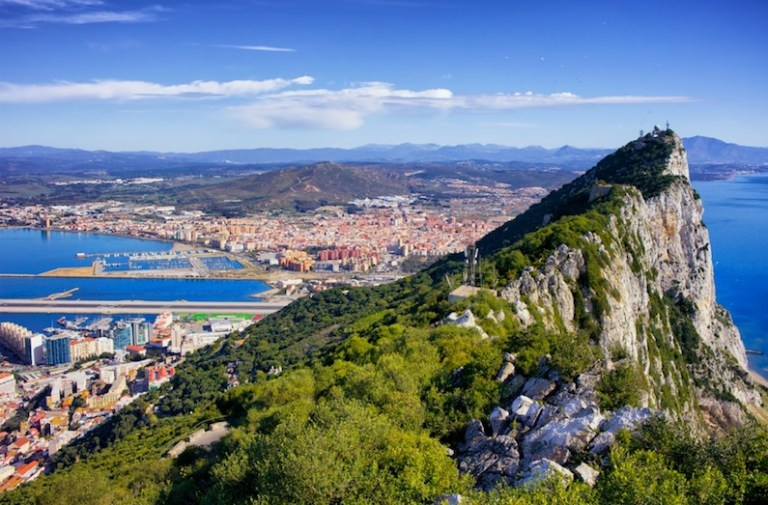 Visit gibraltar in the winter for high temperatures