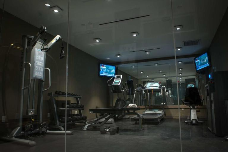 gym at the best western herald square in NYC