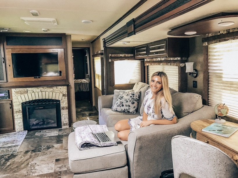 Kashlee Kucheran living in an RV