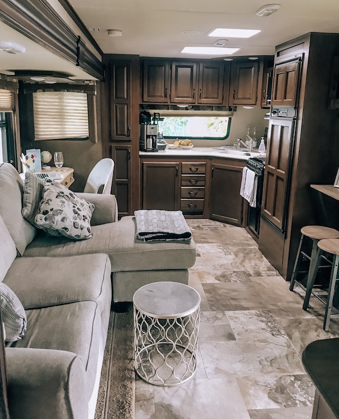 Inside our RV Kashlee