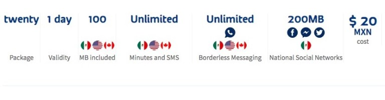 Telcel packages