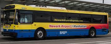 Newark Airport Manhattan Express shuttle bus