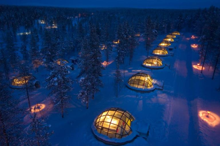 stay in an igloo hotel in finland