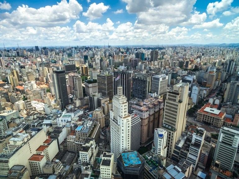 Sao Paulo is a huge massive city