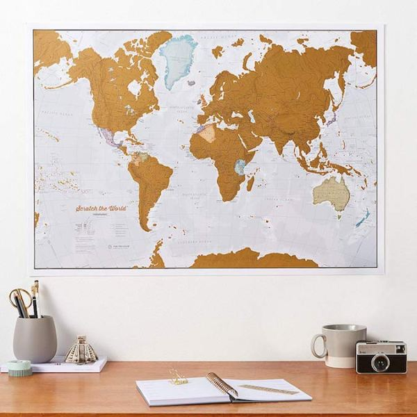 Scratch map -cool travel christmas ideas for girls