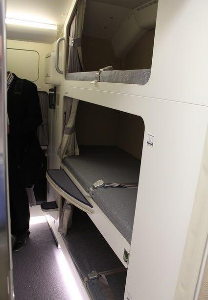 Crew flight attendant bunks