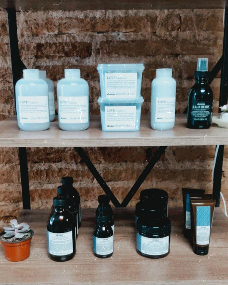 Davines products in Mazatlan hair salon