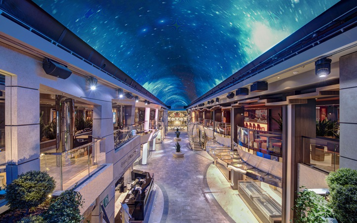 MSC Virtuosa digital ceiling