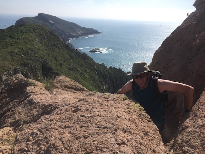 kayak to deer island and hike up the hill