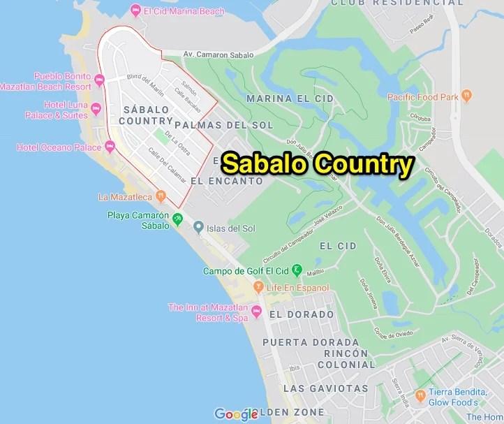 Sabalo country neighborhood mazatlan