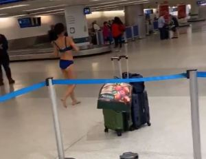 Naked Woman Wanders Around Miami Airport & Jumps Off Roof