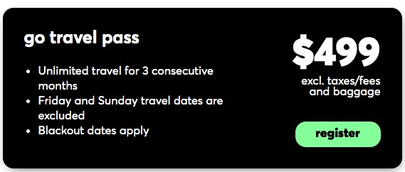 $499 Flair Airlines 3 month travel pass