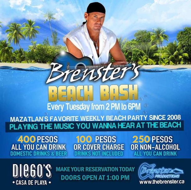 Prices for Brensters Beach Bash 2020 and 2021