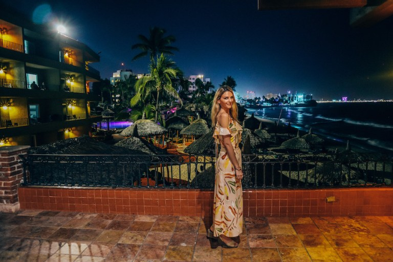 La terraza restaurant at night - Kashlee at the hotel playa mazatlan