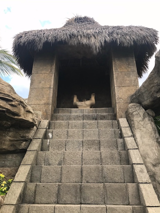 hidden mayan temple at the hotel playa mazatlan