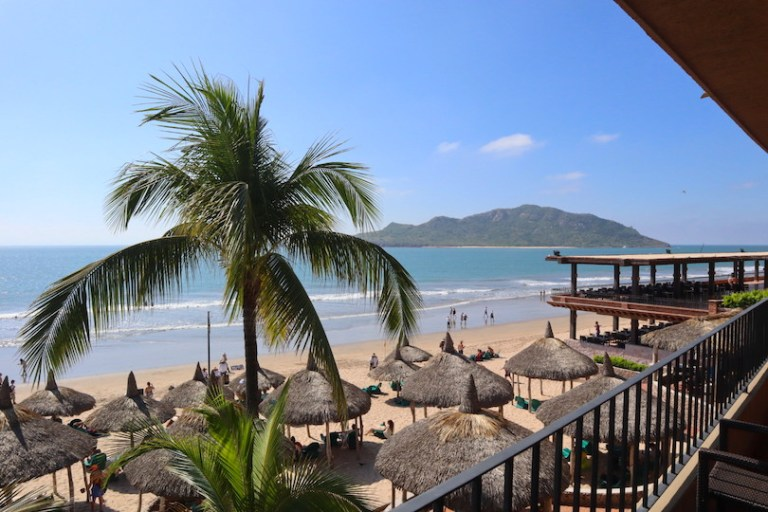 view from balcony at hotel playa mazatlan