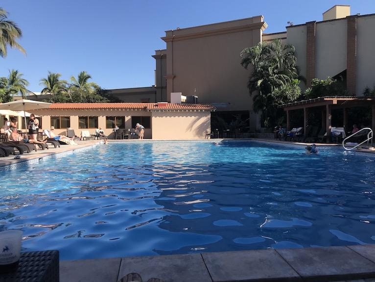 the main pool is heated at playa mazatlan hotel
