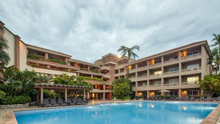 heated pool at playa mazatlan hotel