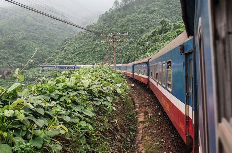 sleeper train views in veitnam