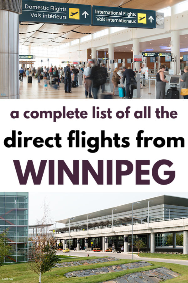 a complete list of all the direct flights from winnipeg airport