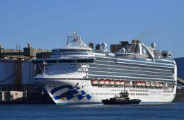ruby princess docked in australia