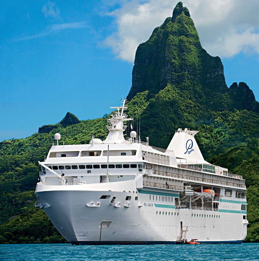 Paul Gauguin Cruise ship in tahiti