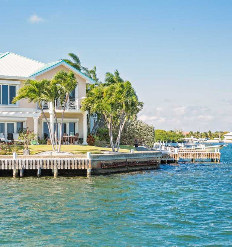 cayman island vacation rental on canal