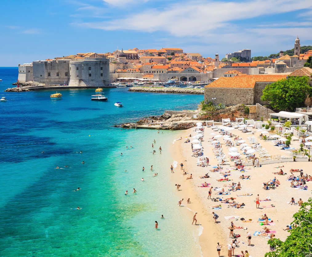 Beach in Dubrovnik, Croatia (2)