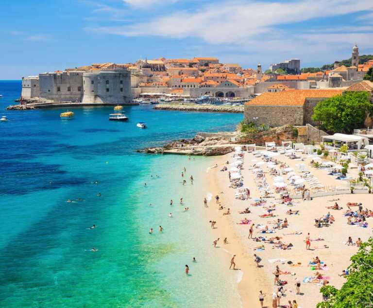 Beach in Dubrovnik, Croatia (2)