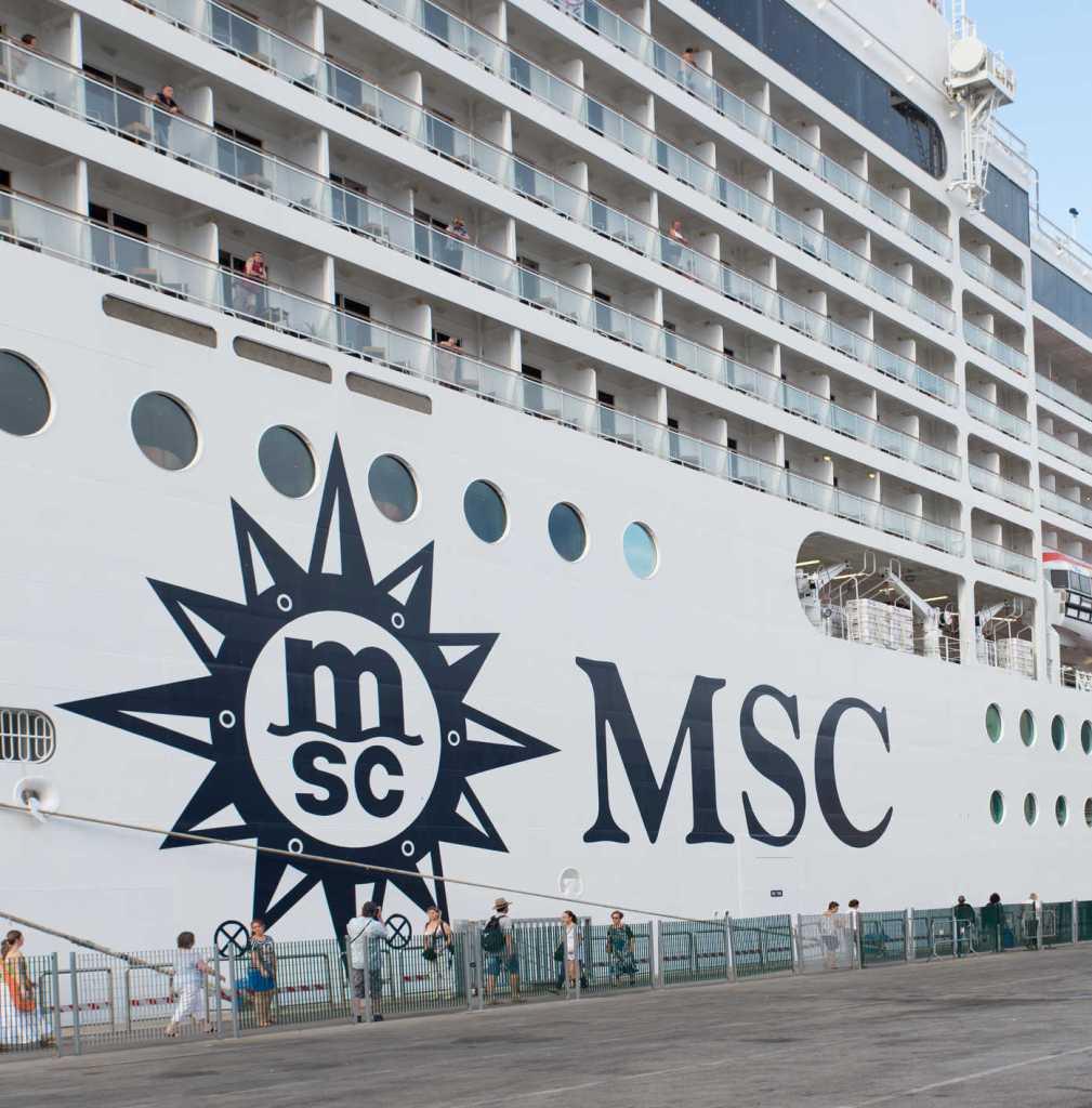 Passenger boarding msc cruise ship