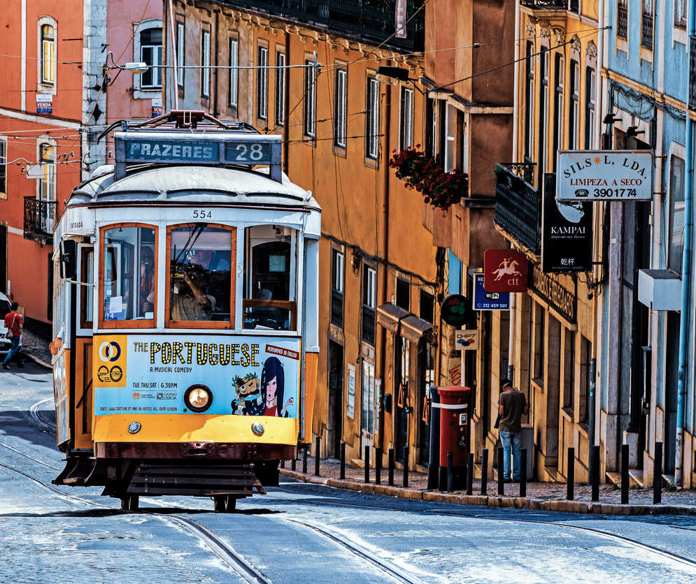 The number 28 Lisbon tram, considered one of the main attractions of the city