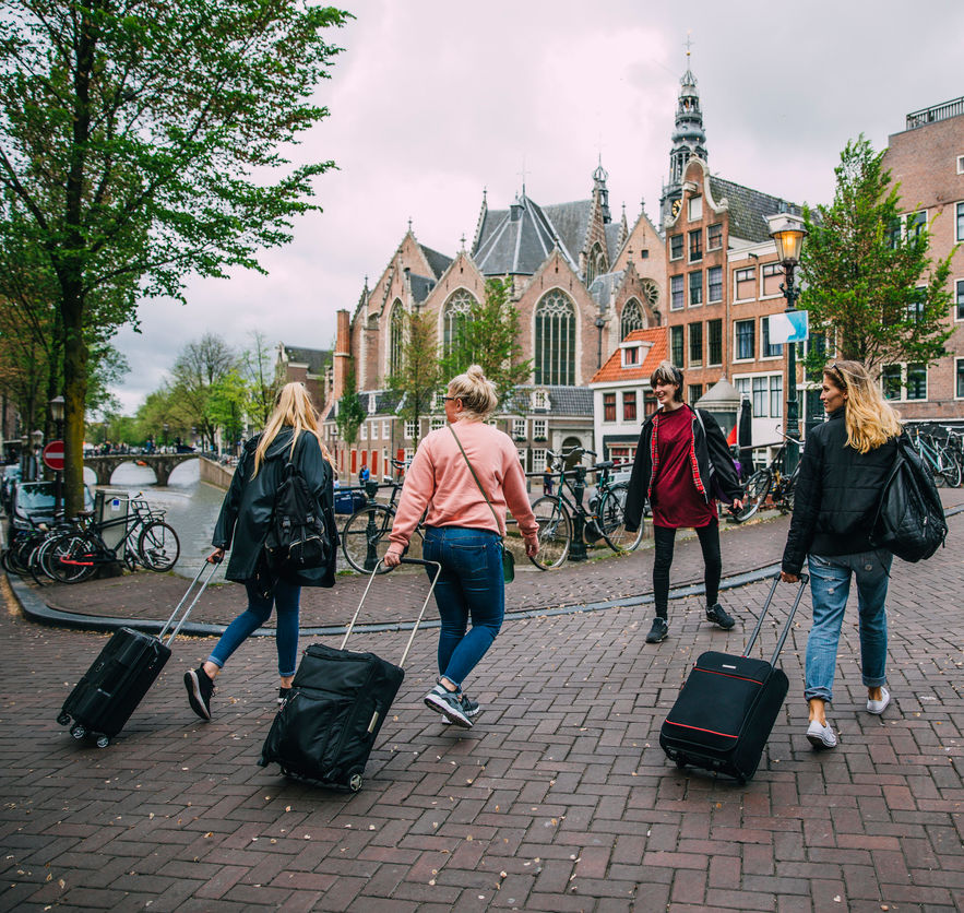 Tourists Arriving in Amsterdam