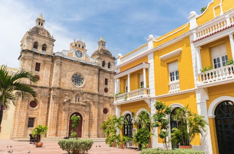 church of San Pedro in Cartagena, Colombia