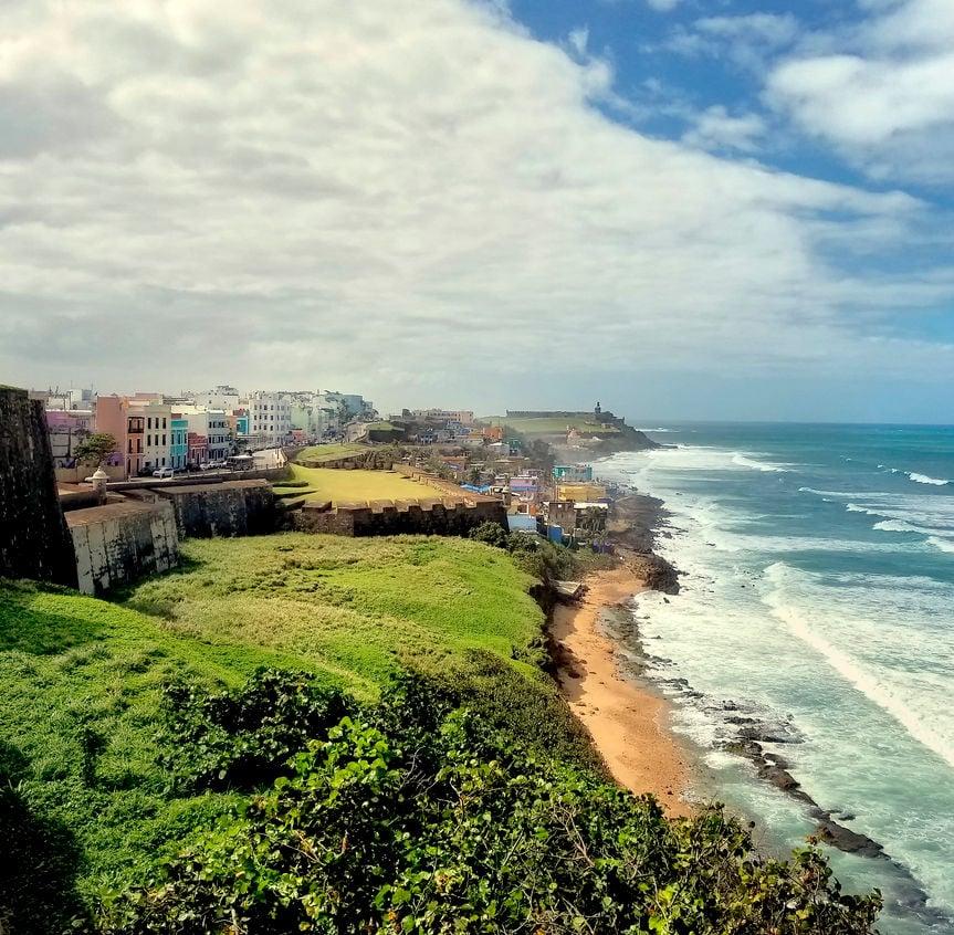 Coastline of Puerto Rico, old San Juan